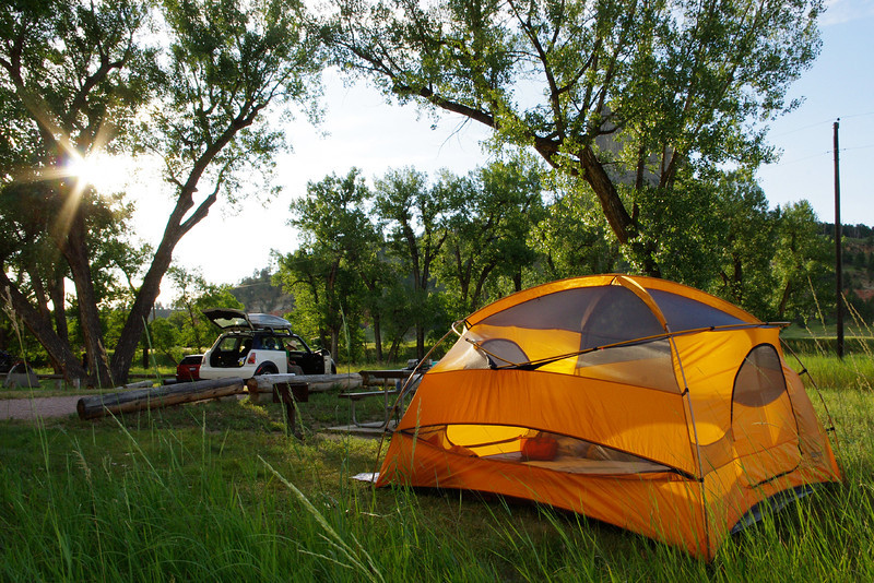 Campground, Devil's Tower National Monument, South Dakota.