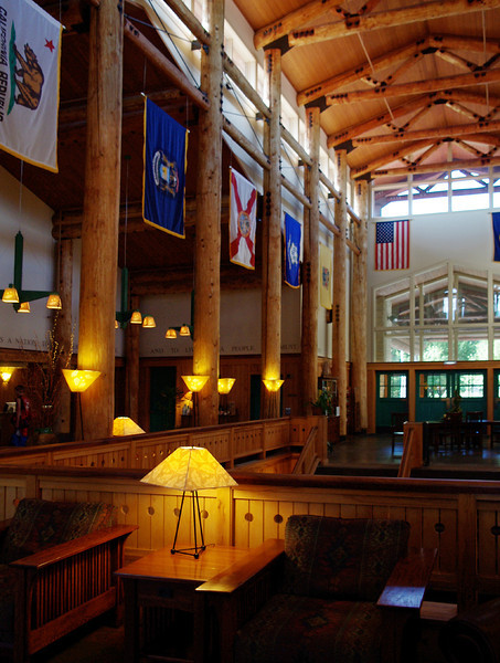 Lied Lodge, interior. Arbor Day Foundation Headquarters at Nebraska City, Nebraska.