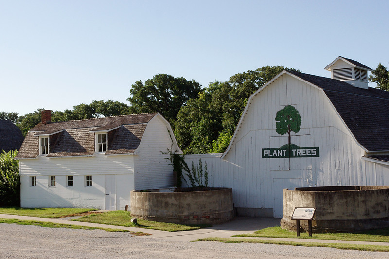 Farm buildings, Arbor Lodge State Historical Park and Arboretum, Nebraska City, Nebraska.