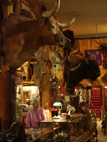 Inside King's Saddlery, Sheridan, Wyoming - if you can find your way to the back room, you will find a world-class cowboy museum; and it's free (donations accepted).