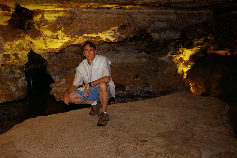 Gary in the cave; Wind Cave National Park, South Dakota.