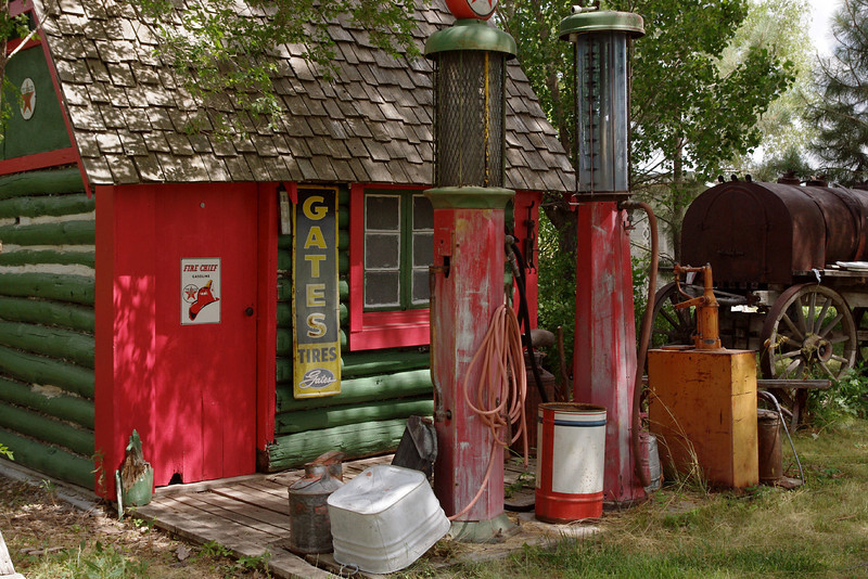 Texaco gas station, Dobby's Frontier Town near Alliance, Nebraska.