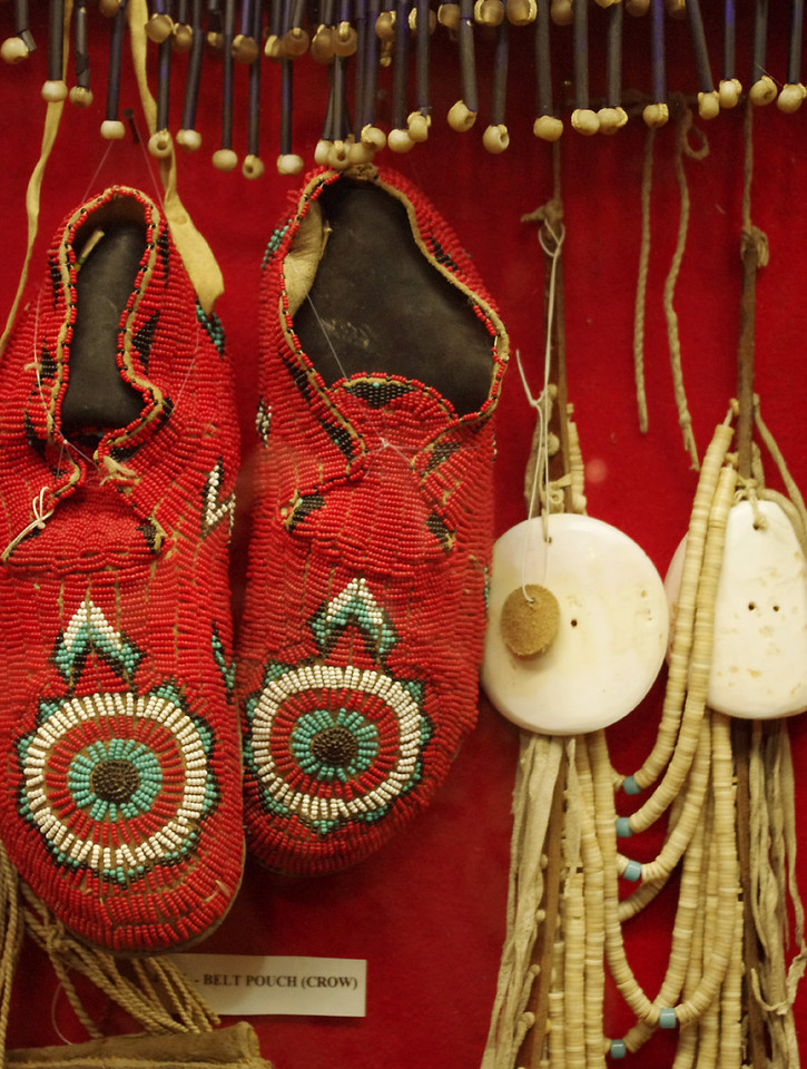 Beaded moccasins, cowboy museum, King's Saddlery, Sheridan, Wyoming.
