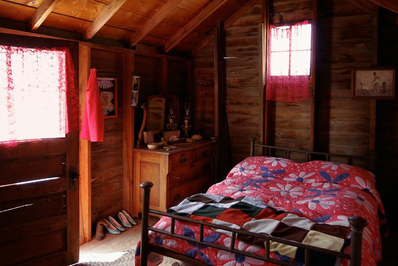 Bordello room above saloon, Dobby's Frontier Town near Alliance, Nebraska.