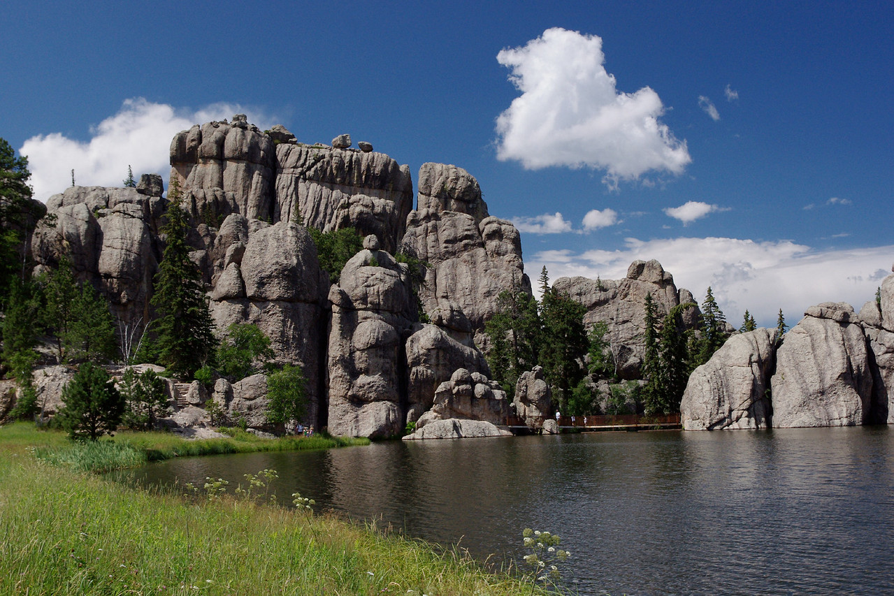 Sylvan Lake, near Custer State Park, Black Hills, South Dakota.