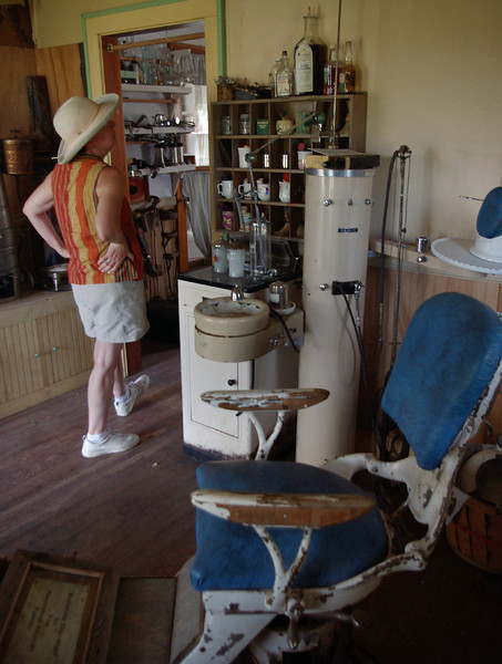 Rita in the dentist office, Dobby's Frontier Town near Alliance, Nebraska.
