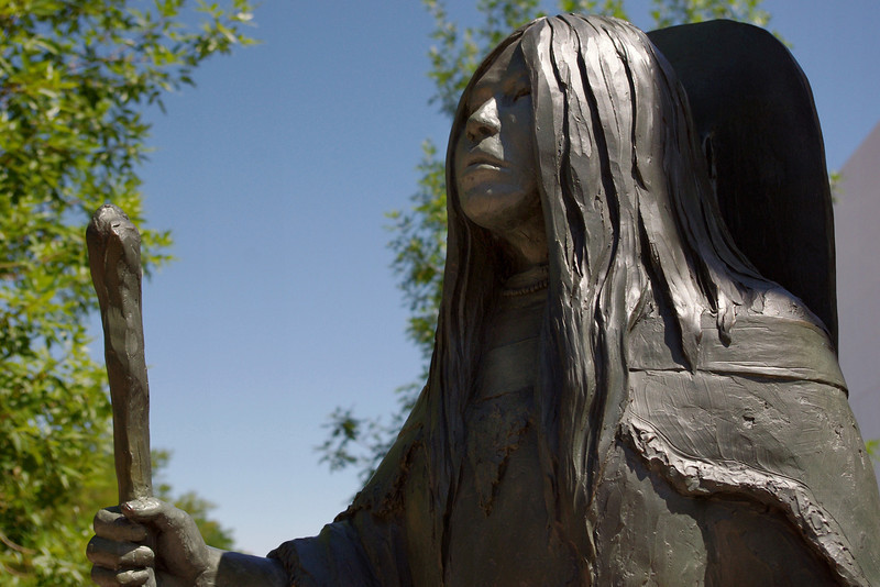 Bronze statue of Bird Woman (Sacajawea) by R.V. Greeves, Sheridan, Wyoming.