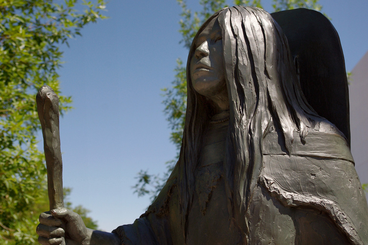 Bronze statue of Bird Woman (Sacajawea) by R.V. Greeves, Sheridan, Wyoming.