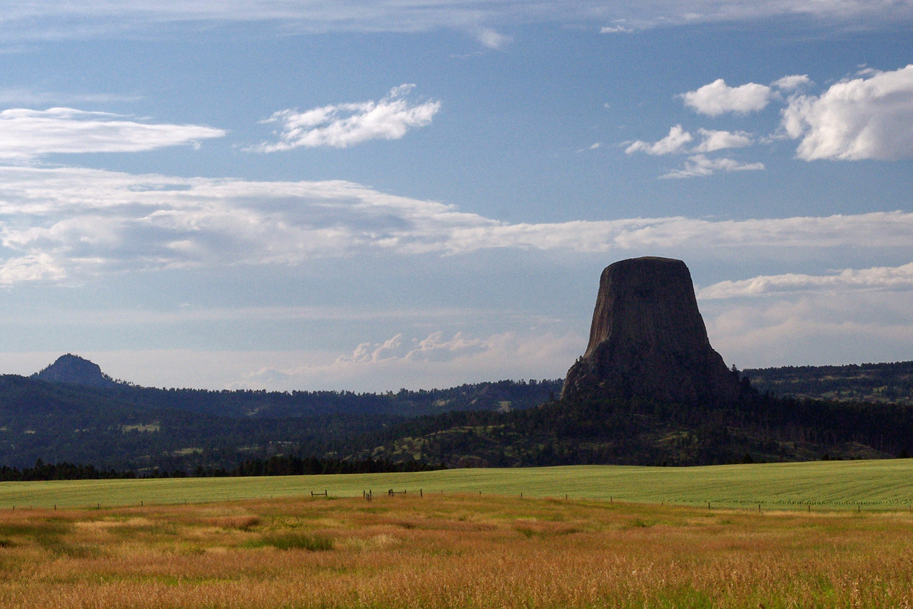 Devil's Tower, South Dakota - distant view.