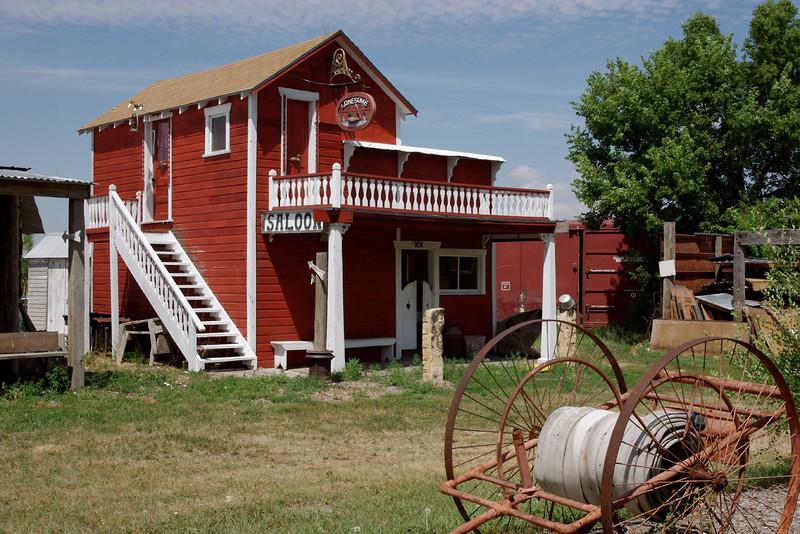 Saloon, Dobby's Frontier Town near Alliance, Nebraska.
