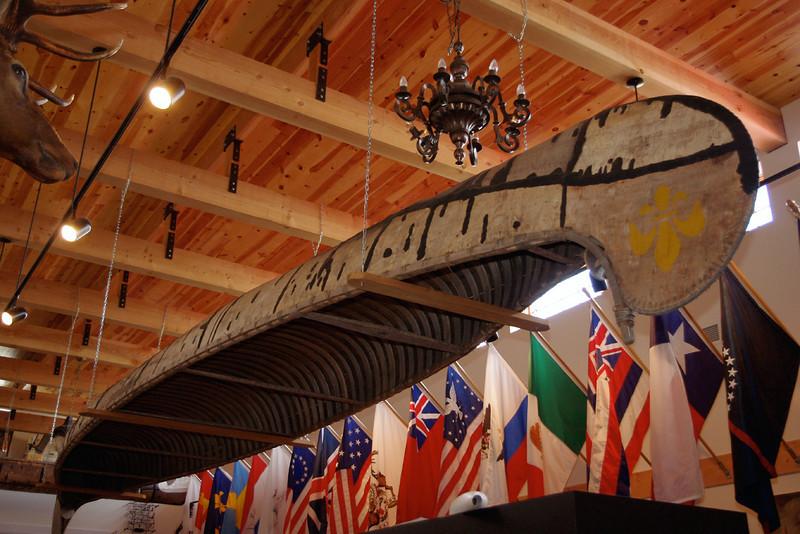 Birchbark canoe, Museum of the Fur Trade, near Chadron, Nebraska.