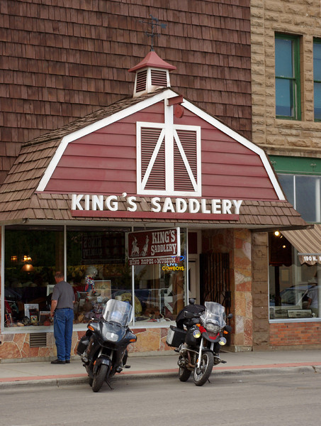 King's Saddlery, Sheridan, Wyoming - home of legendary saddle maker Don King. <br /> <br /> Not being a horsey person, I would normally never give a store front like this one a second glance - but inside we found a magnificent museum dedicated to all things cowboy and Indian. This is a world-class exhibit - and it's free (donations accepted).