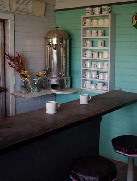 Cafe, Dobby's Frontier Town near Alliance, Nebraska.