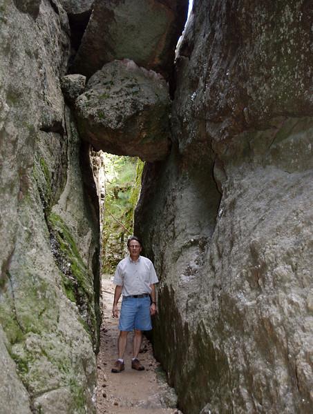 Gary, hiking the Sylvan Lake near Custer State Park, Black Hills, South Dakota.