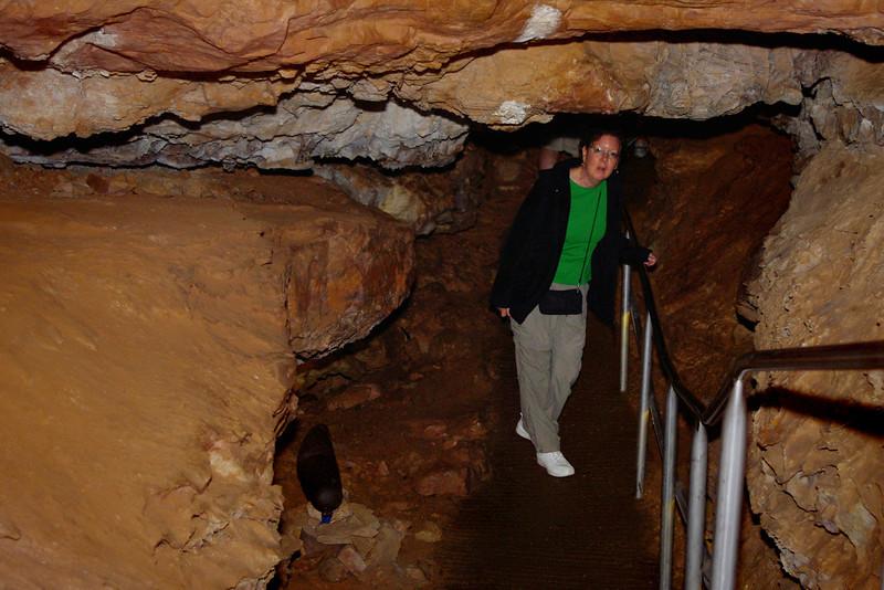 Rita in the cave; Wind Cave National Park, South Dakota.