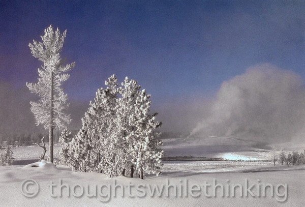 051 Yellowstone2006 Day4 Jan24 geyser hike Old Faithful