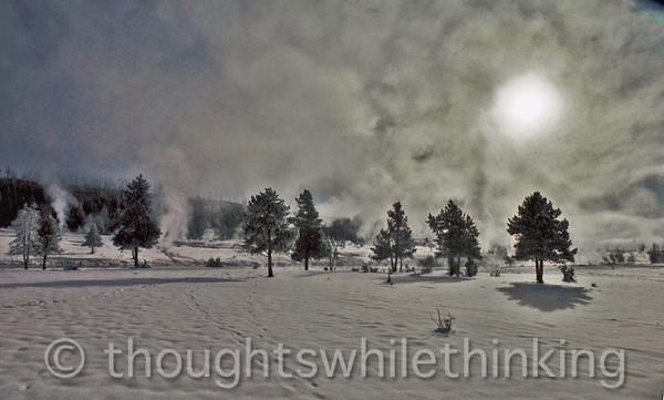 057 Yellowstone2006 Day4 Jan24 geyser basin north of Old Faithful
