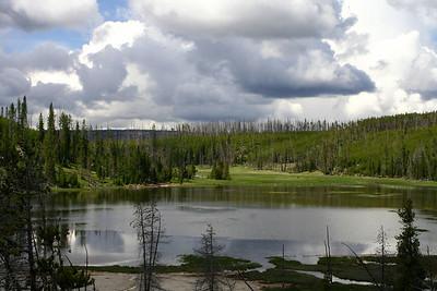 Small lake South of Mammoth Hot Springs.