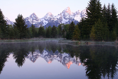 Grand Teton's and beaver pond at sunrise.