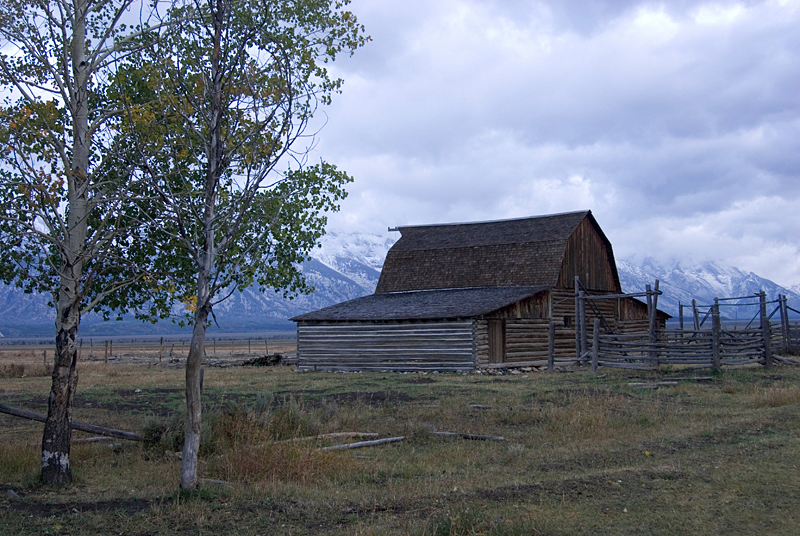 Morman Row Barn, Grand Tetons National Park, WY<br /> <br /> Morman Row is one of the photographically iconic spots in <br /> GTNP.