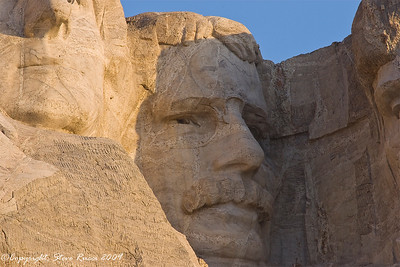 Close-up of Roosevelt's face - Mount Rushmore National Monument