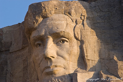 Close-up of Lincoln's face - Mount Rushmore National Monument
