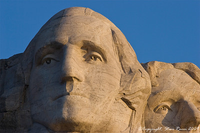 Close-up of Washington's face - Mount Rushmore National Monument