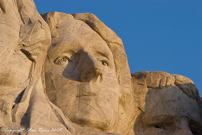 Close-up of Jefferson's face - Mount Rushmore National Monument