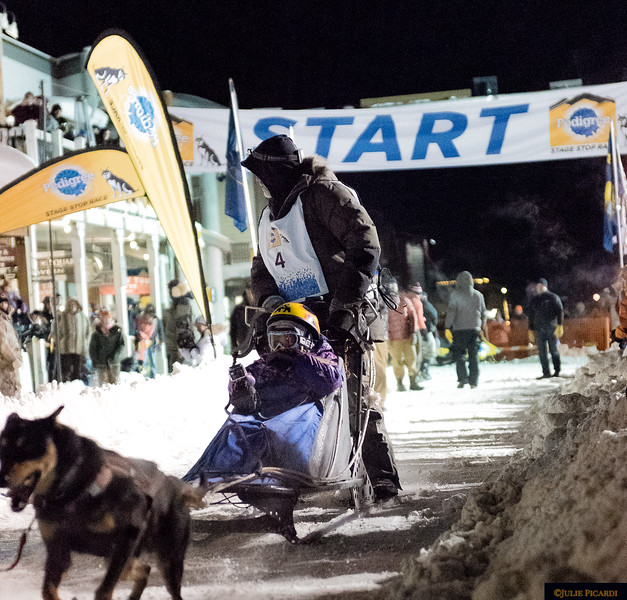 The races are usually held during the day, although the first leg kicks off here in Jackson, WY at night.
