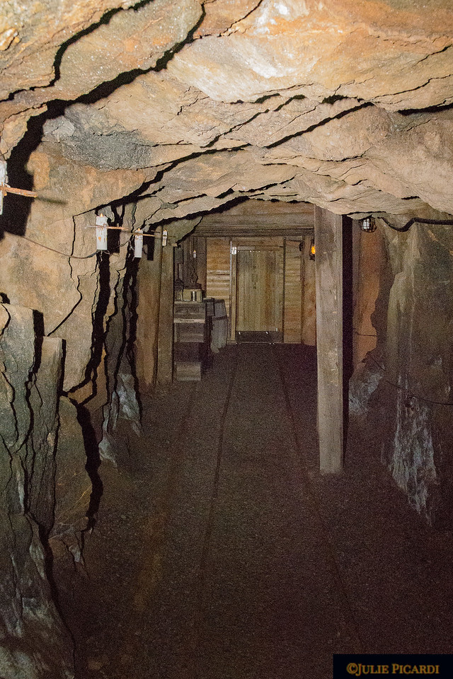 This tunnel is large compared to what the miners worked in.