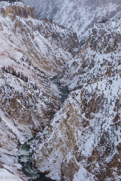 Yellowstone river and the 'grand canyon' of the park.