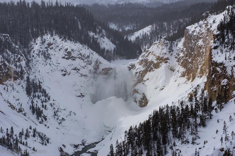 Upper falls, pretty much frozen over.