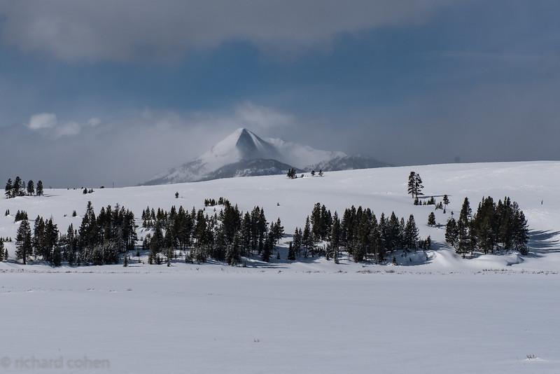 Volcanic peak, I believe part of the Gallatin range.