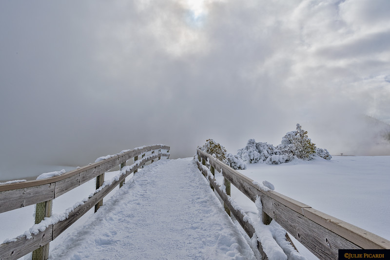 Boardwalk to Midway Geyser Basin