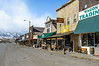The town of Gardiner Montana on a Sunday afternoon.
