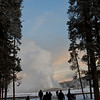Old Faithful early in the morning