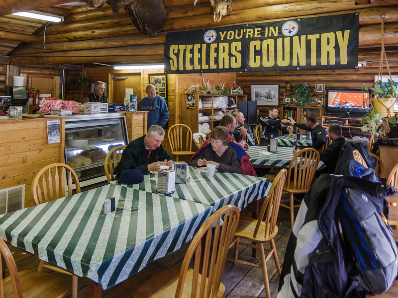 """Buns and Beds"", run by a misguided Steelers fan served up a nice lunch."