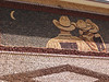 Flora has a summer job at a lodge in Yellowstone National Park. Bev and Flora drove there in one car, and I drove our other car so Bev and I could drive back. On the second night, we stayed in Mitchell, South Dakota; this is a picture of the famous Corn Palace, with designs made entirely of corncobs.