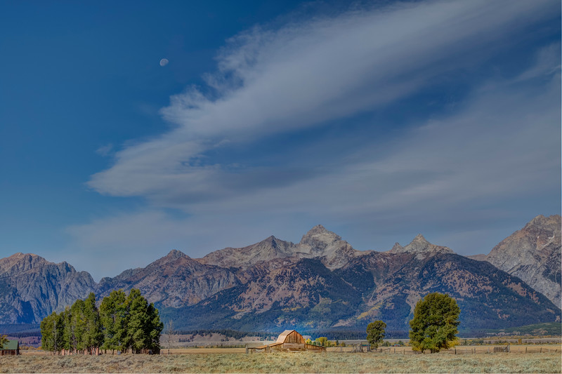 Moon over the Tetons