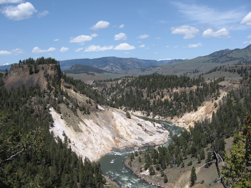 From Roosevelt Lodge we went south towards Tower Falls. Here's a view of the Yellowstone River.