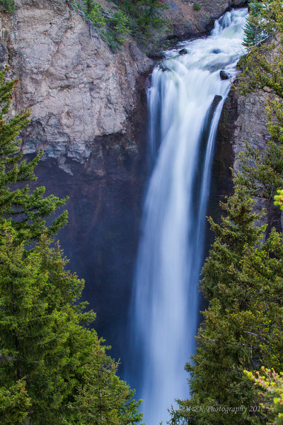 TOWER FALL FACTS <br /> GPS Location: 548443 4971117<br />  Plunge Height: 132 feet<br />  Tower Creek Map: -Tower Junction, Wyoming/Montana<br />  Access: 2.2 miles south of Tower-Roosevelt Junction between Tower-Roosevelt Junction and Canyon Village.