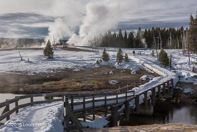 Firehole River, Upper Geyser Basin, Yellowstone National Park