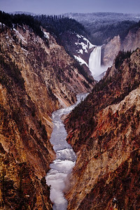 Lower Falls crashing into the Grand Canyon of Yellowstone