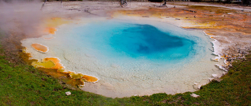 Celestine Pool at Lower Geyser Basin, Yellowstone National Park