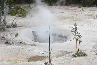fumarole - similar to hot springs, but lacks water