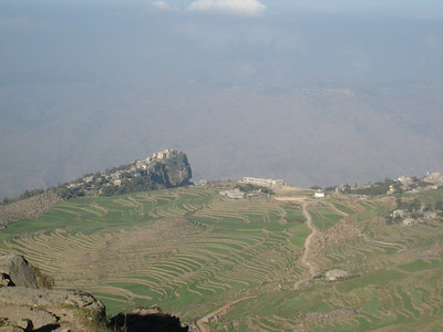 The extensive terraces that are everywhere in Yemen.
