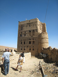 Colin photographing one of the houses in Hababah.
