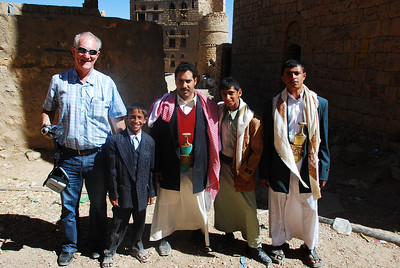 Colin with some of the local blokes at Hababah.