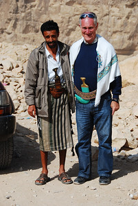 Colin with our driver and guide Ali.