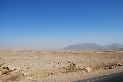 On the road to Ma'rib though the most desolate part of Yemen.